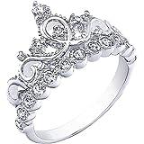 925 Sterling Silver Princess Crown Ring