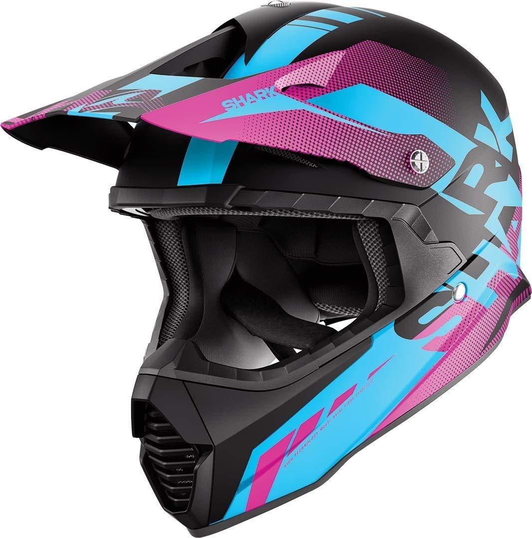 Shark Varial Anger Cross Helmet Black Blue Purple KBV Size M