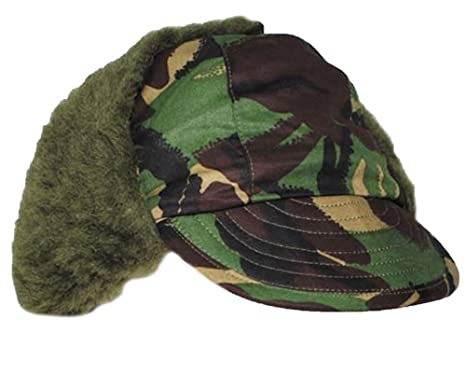 083070551ba Image Unavailable. Image not available for. Colour  Original British Army  Issue DPM Camouflage Winter Pile Peaked Trapper Hat