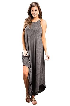 55541eb6bac Boldgal Women s Western Sleeveless Maxi Dress X-Large Grey at Amazon  Women s Clothing store