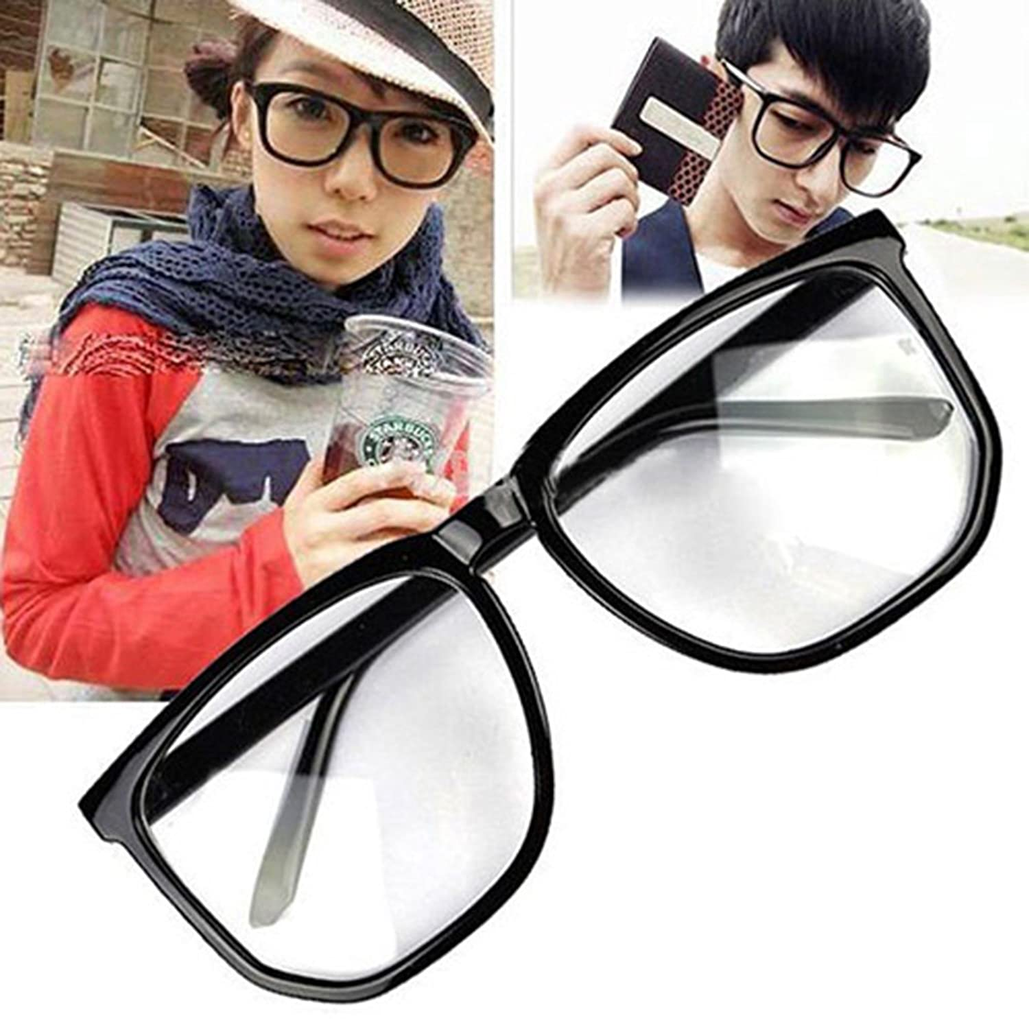 Amazon.com: Unisex Men Women Fashion Oversized Retro Tortoise Shell ...