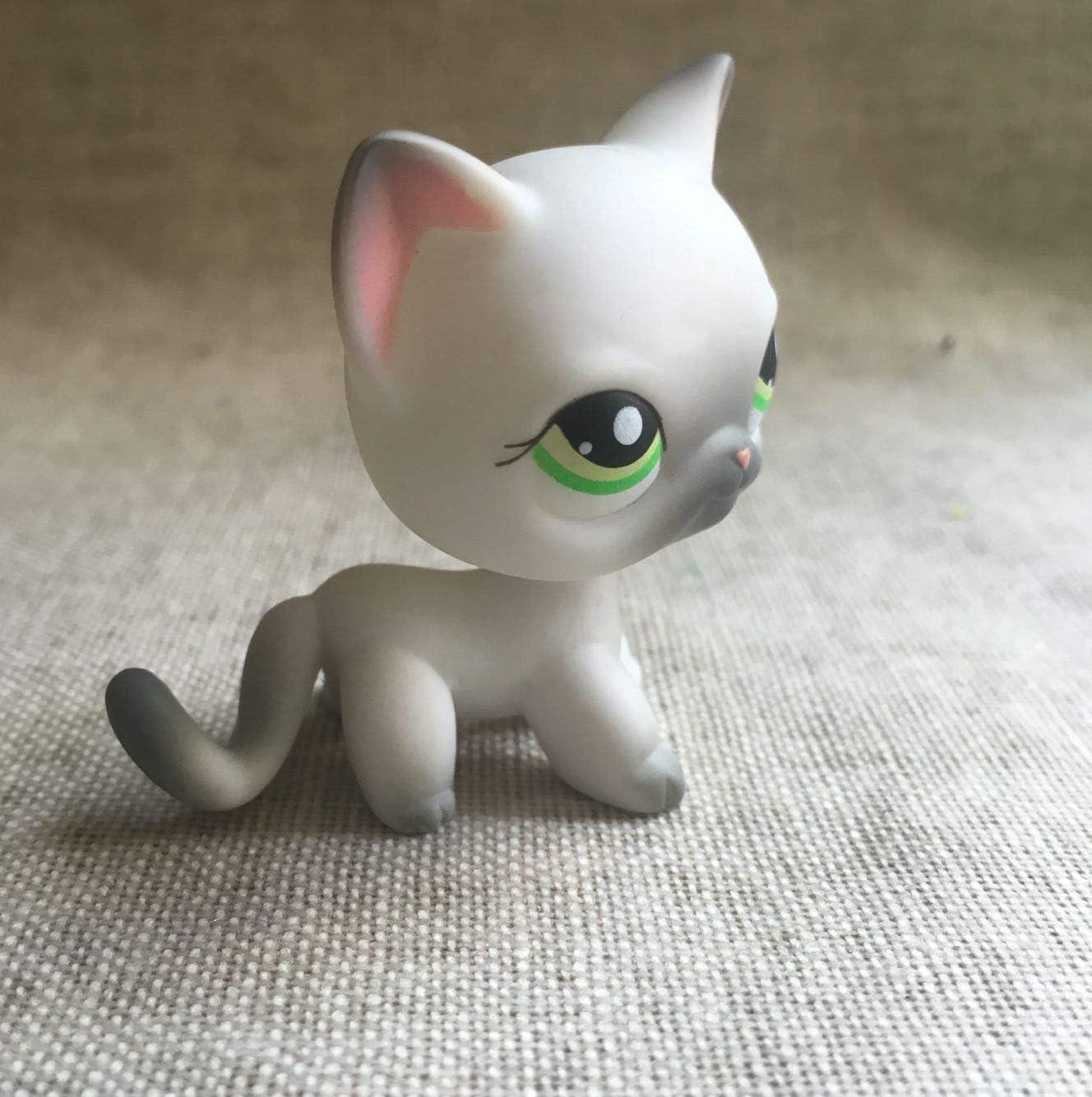 LPS Grey nose green yellow eyes #125 Action Figure LITTLEST PET SHOP
