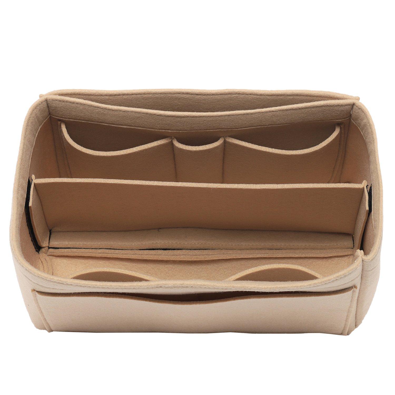 [New Style] Luxury Felt Purse Organizer, Bag Organizer, Handbag Tote Bag Insert Organizer for Speedy Neverfull Longchamp, 3 Sizes