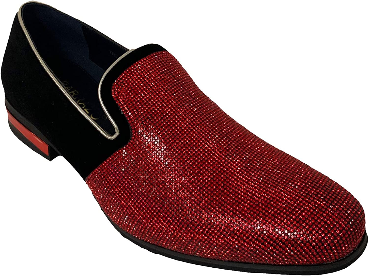 New Men Vintage Velvet Dress Shoes Tuxedos Loafers Slip On Classic Harell-5