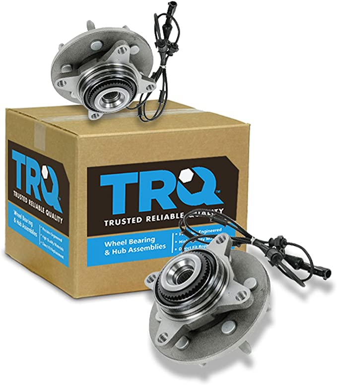 TRQ Front Wheel Hub /& Bearing for 03-06 Ford Expedition Navigator 4x4 w// ABS New