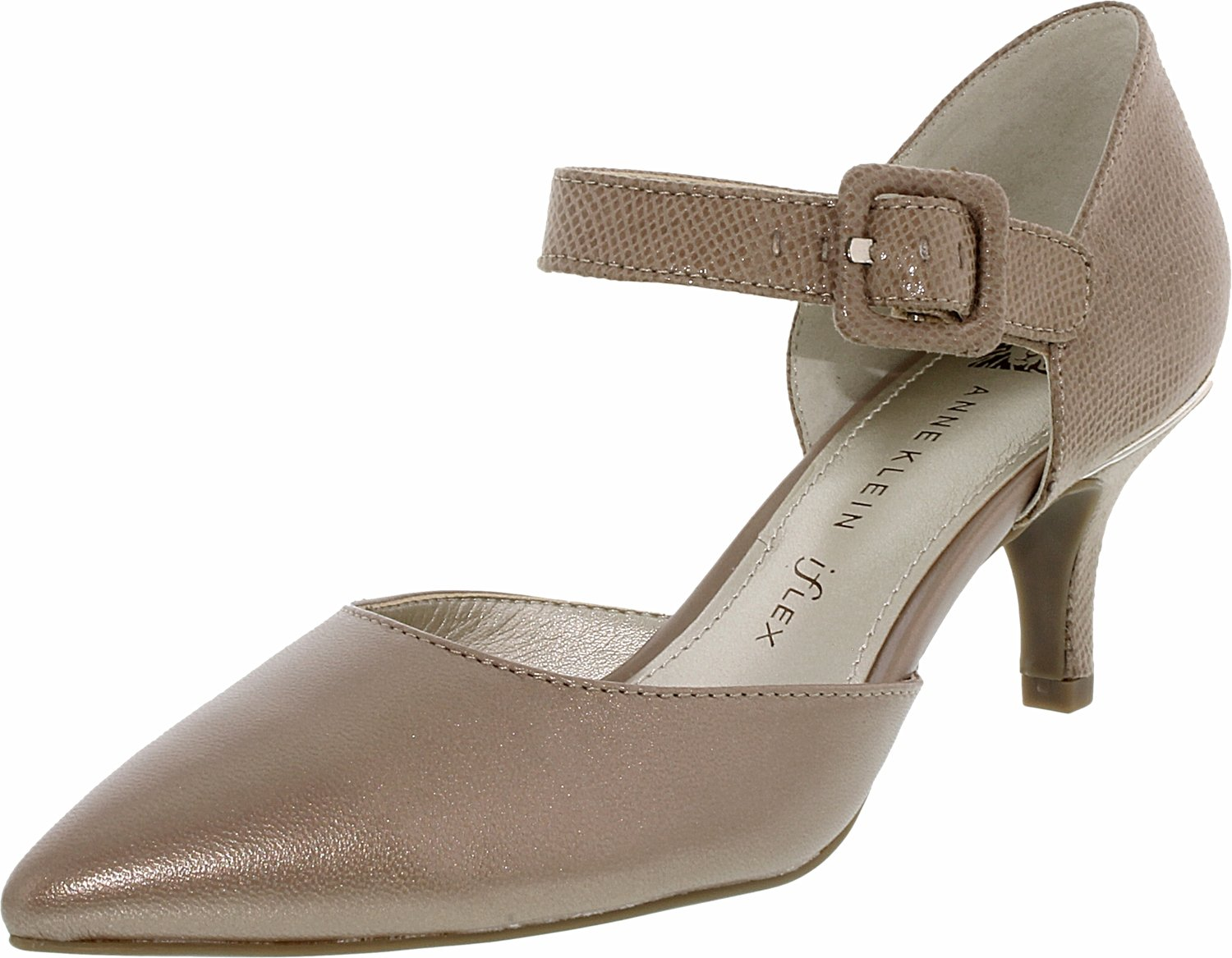 Womens Shoes Anne Klein AKFinale Taupe/Taupe Fabric