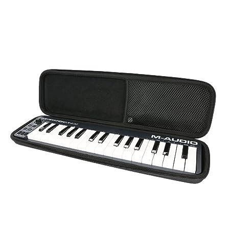 para teclado M-Audio Mini 32 II, portátil, 32 teclas USB/MID Duro Viaje Estuche Bolso Funda by Khanka: Amazon.es: Instrumentos musicales