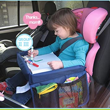 Kids Car Seat Tray Kid Travel Organizer Multifunctional Safe New Design Waterproof For