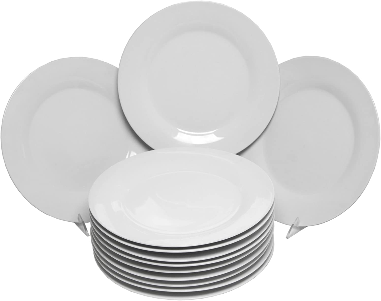 10 Strawberry Street Catering 10.5 Inch Dinner Plate Set