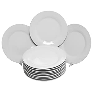 "10 Strawberry Street CATERING-12-DINNER-W Catering Pack 10.5"", Set of 12 Dinner Plates, White"