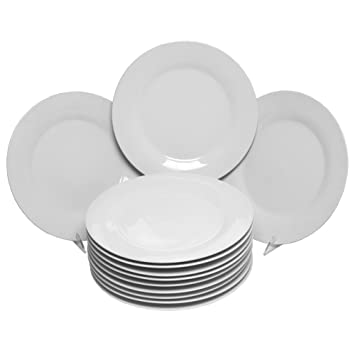 Amazon.com 10 Strawberry Street Catering Set 10-1/2-Inch Dinner Plate Set of 12 Restaurant Dinner Plates Kitchen u0026 Dining  sc 1 st  Amazon.com : set plates - pezcame.com