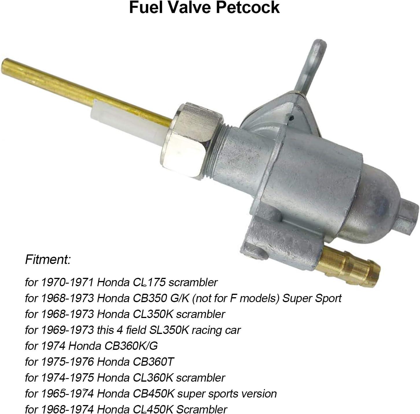 Fuel Gas Tank Switch Valve Petcock For Honda CL350 Scrambler 1968 1969 1970-1973