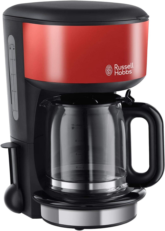 Russell Hobbs 20131-56 Colours - Cafetera de filtro, jarra de cristal, capacidad para 1,25 l, función de pausa para servir: Amazon.es: Hogar