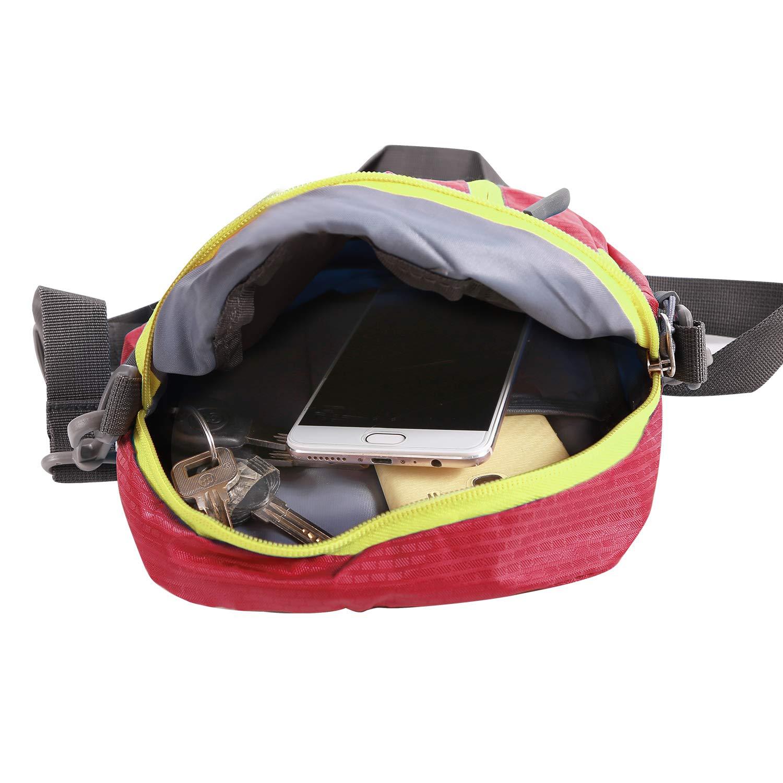 Multifunctional Wearproof Small Shoulder Bag for Men Women Boys REDCAMP Small Messenger Bag Crossbody Bag for Outdoor Travel Sport Red