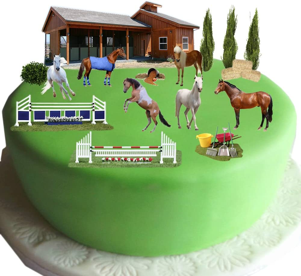 Strange Equestrian Horse Pony Cake Scene Made From Edible Wafer Paper Birthday Cards Printable Nowaargucafe Filternl