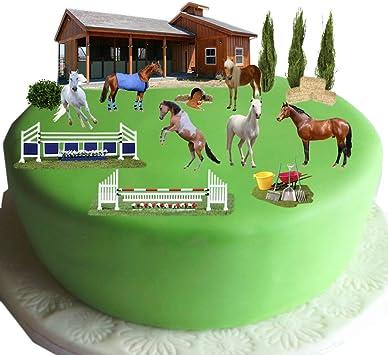 Strange Equestrian Horse Pony Cake Scene Made From Edible Wafer Paper Birthday Cards Printable Giouspongecafe Filternl