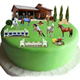 Equestrian Horse & Pony Cake Scene Made From Edible Wafer Paper - Perfect for Decorating Your Birthday Cakes- Easy to Use
