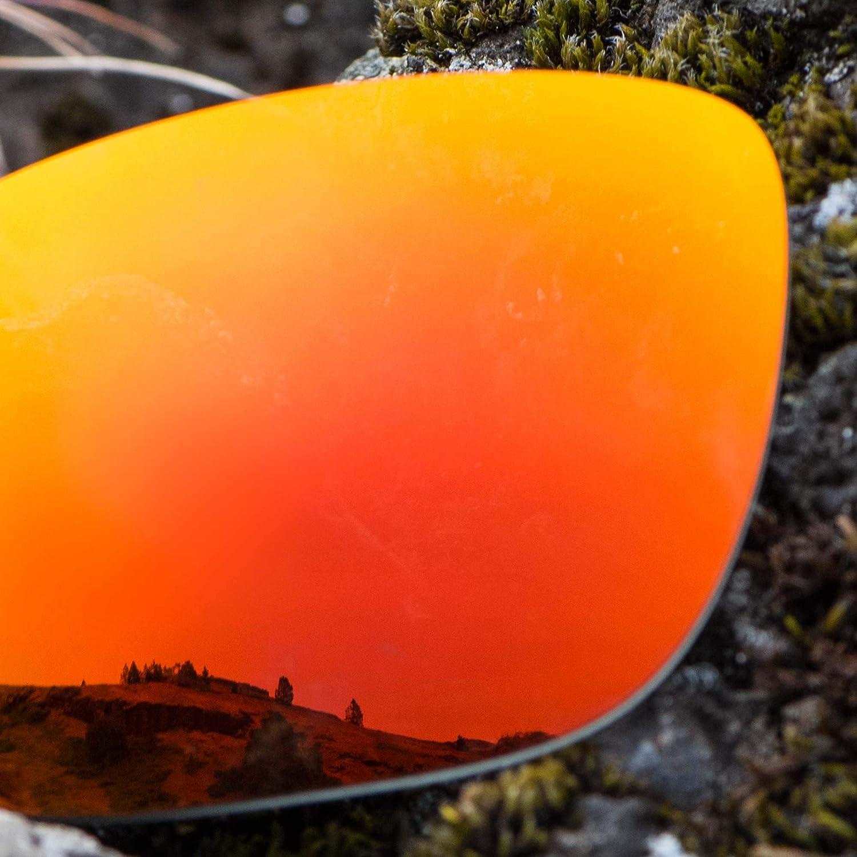 Revant Verres de Rechange pour Oakley Holston - Compatibles avec les Lunettes de Soleil Oakley Holston Rouge Feu Mirrorshield - Polarisés Elite