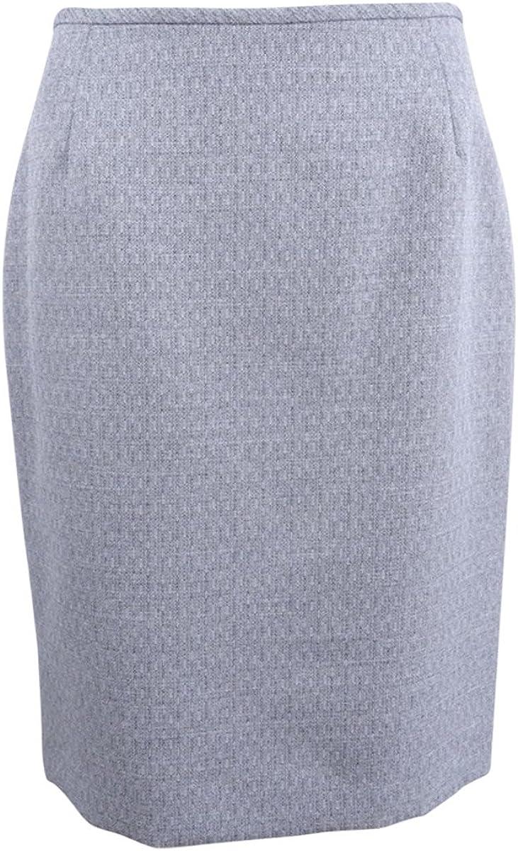 LeSuit Womens Cross Dye 3 Button Skirt Suit Suit Skirt Set