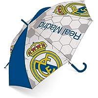 ARDITEX RM12973 Paraguas de poliéster del Real Madrid CF, 8 Paneles, diámetro 95cm, Apertura automática