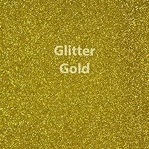 """Siser Glitter Heat Transfer Vinyl 20"""" x 12"""" Sheet (Gold)"""
