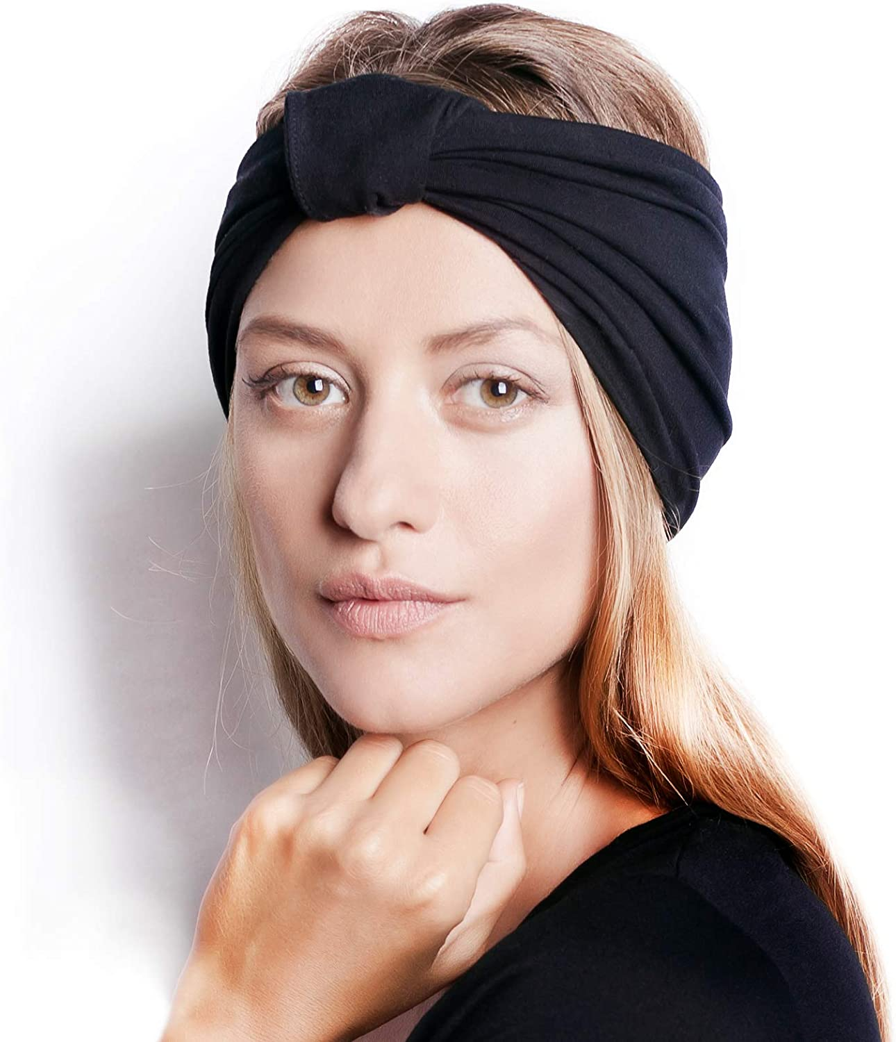 "BLOM Original Headbands For Women. 6"" Multi Style Design for Yoga Workout Running Athletic. Wear Wide Turban Knotted. Ethically Made in Bali."