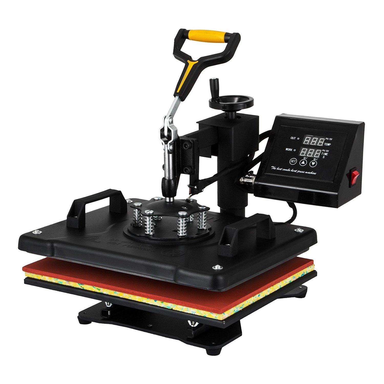 5 IN 1 HuSuper Transferpresse 5 in 1 30X38cm Heat Press Machine Tassenpressen Hei/ßpresse T-Shirt Becher Hut Cap Sublimation Telefon