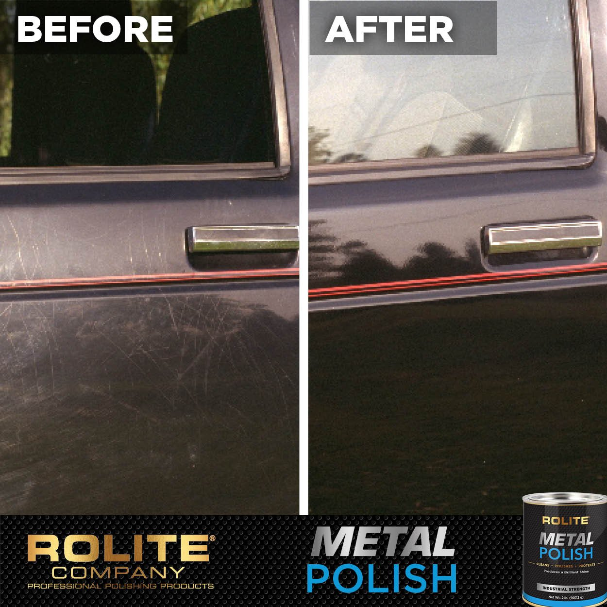Rolite Metal Polish Paste (1lb) for Aluminum, Brass, Bronze, Chrome, Copper, Gold, Nickel and Stainless Steel by Rolite (Image #4)