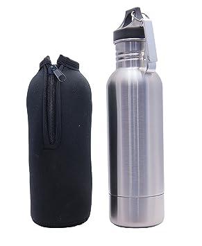 Botella de acero inoxidable abridor de botella aislante con forro interior extraíble y se adapta a la mayoría martillo de botellas (1, acero inoxidable): ...