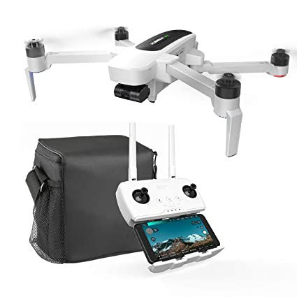 Hubsan Zino Drone Foldable 4K UHD Camera Three-Axis Gimbal Brushless Motor  with GPS Wifi FPV (Contains carrying case and backup battery)