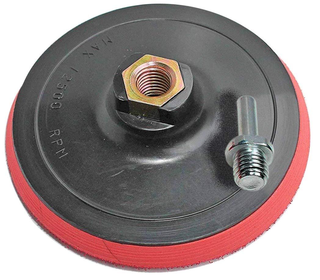 Piatti carta abrasiva con Velcro M14 125 mm con collo del piede punta per foratura macchina