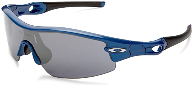 7161d667d89ffc Oakley Men s Radar Pitch Iridium Asian Fit Sunglasses,Metallic Blue  Frame Black Lens,