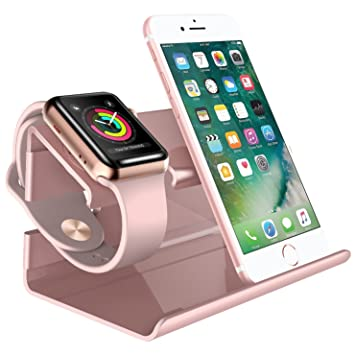 BENTOBEN iPhone Cargador Dock, PC Apple Watch Soporte Docking Station Holder Display Cradle para iPhone 7/7 Plus / 6S / 6S Plus/6/6Plus/5S/5/SE iWatch ...