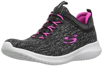 7c357e64c95e Skechers Kids Girls  Ultra Flex-Bright Horizon Sneaker BKHP 1 Medium US  Little Kid