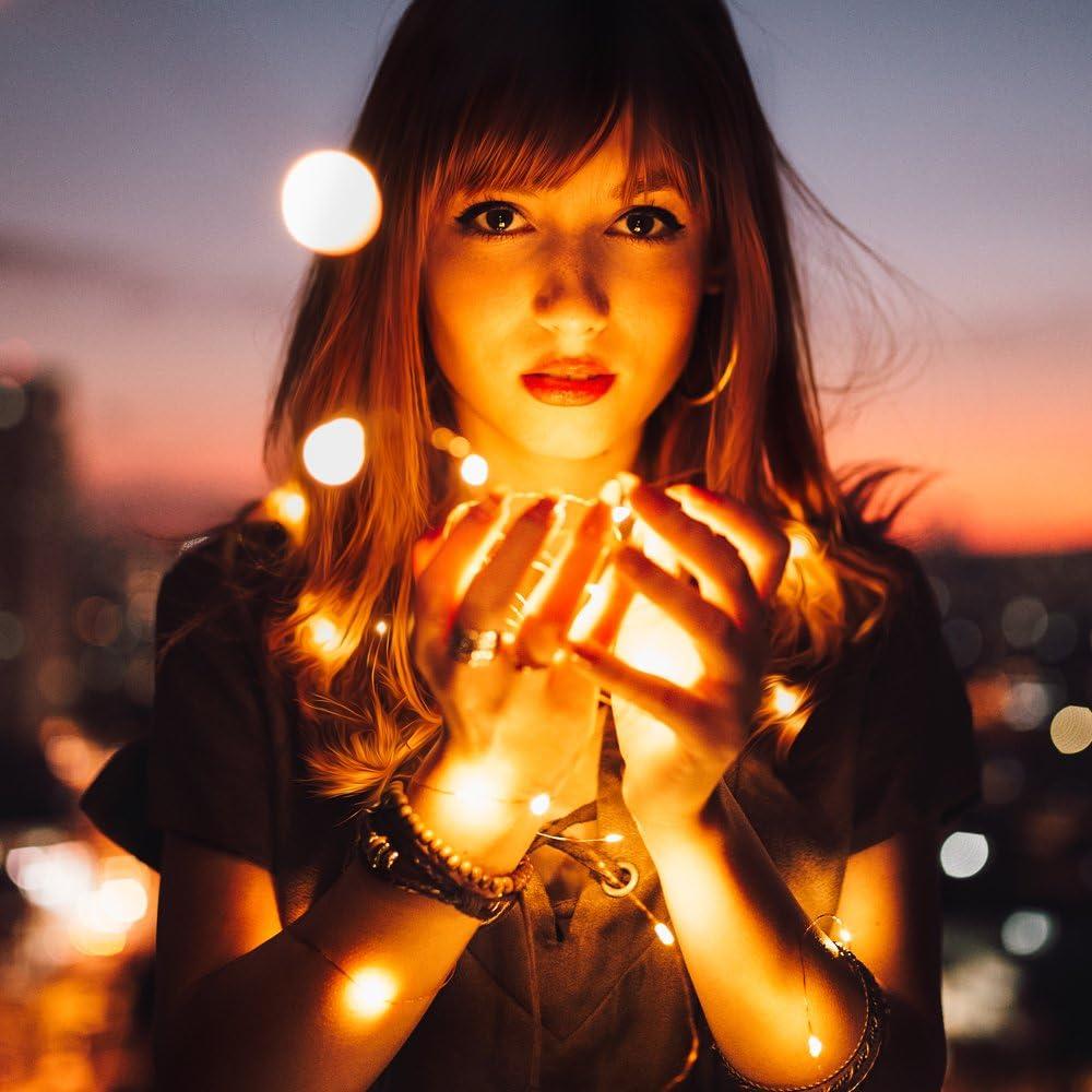 RcStarry 4 Paquets 24M 240 LEDs Super Belle Doux Fil de Cuivre Guirlande Lumineuse Batterie,Imperm/éable /à Leau Avec T/él/écommande et Minuteur,D/écoration F/ête Festival No/ël Anniversaire,Blanc Chaud