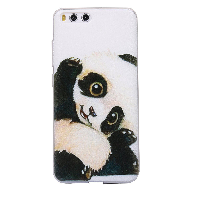 Ecoway TPU Funda Funda para Xiaomi Mi6, Ultra Delgado Carcasa Antideslizante Suave Parachoques Resistente a los arañazos Contraportada Funda de silicona pintado Parachoques Carcasa Funda Bumper - estrella Eafior