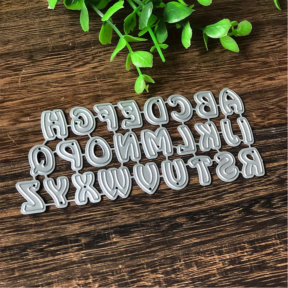Biglietti di Carta Multicolore RIsxffp per Scrapbooking Fustelle a Forma di Lettere dellalfabeto in Metallo