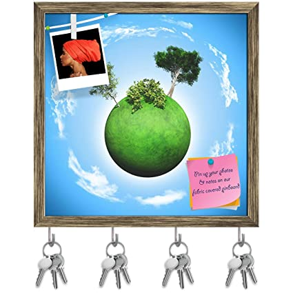 Amazon com: Artzfolio Grassy Globe with Tree D3 Key Holder Hooks