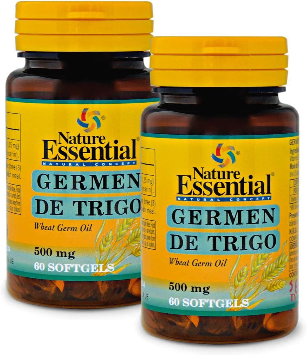 Aceite de germen de trigo 500 mg. 60 perlas (Pack 2 unid.): Amazon ...