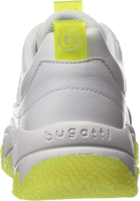 Bugatti 431846045059, Scarpe da Ginnastica Donna Bianco E Giallo 2050