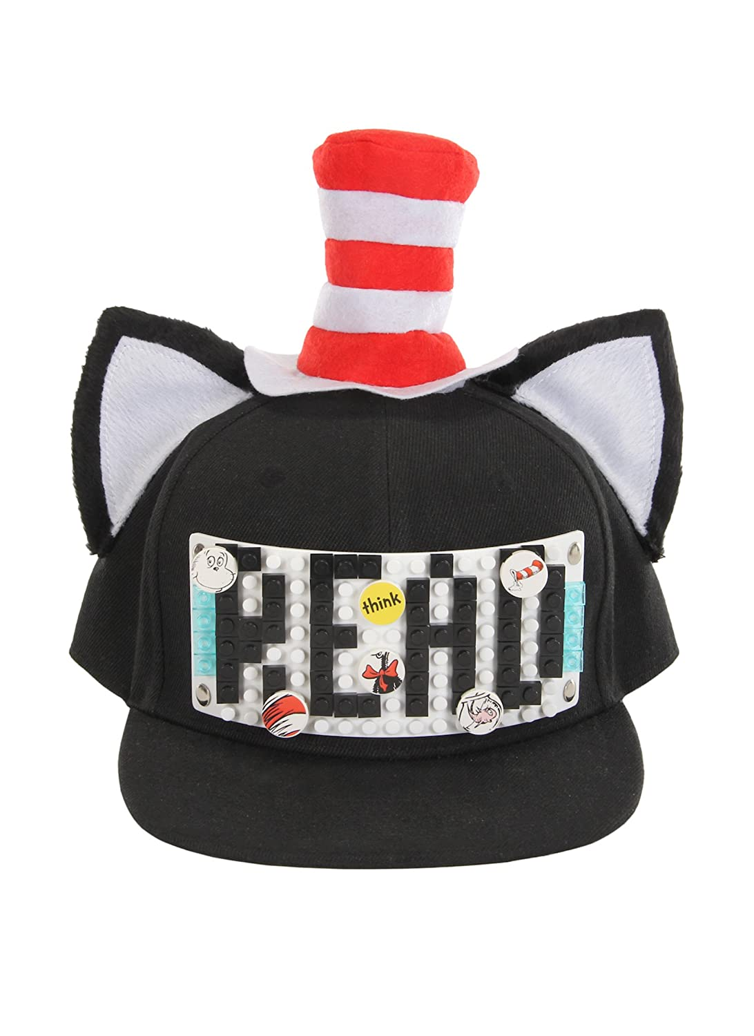 6f39e4cf72d6e Amazon.com  BRICKY BLOCKS Dr. Seuss Cat in The Hat Build-On Snapback Kit by  Elope  Clothing