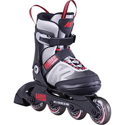 K2 Skate Youth Raider Inline Skates, Gray/Red, Small (11-2) : Sports & Outdoors