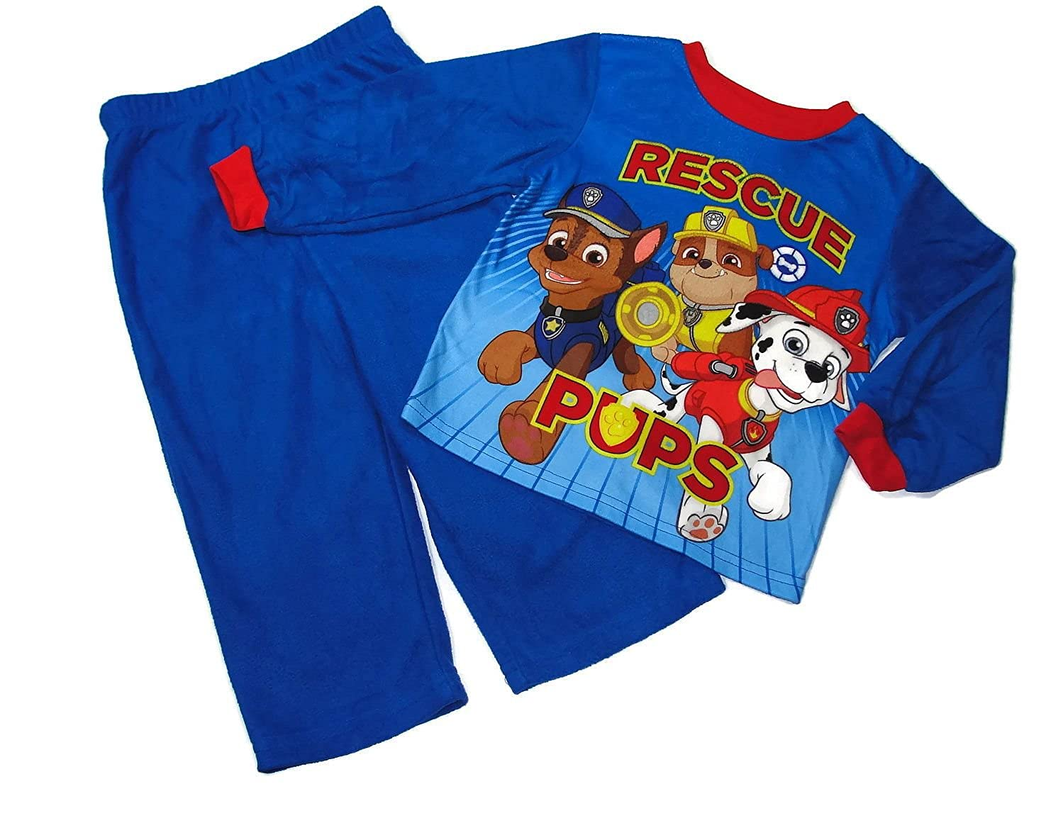 Paw Patrol Boys Size 3T Marshall Chase and Rubble Rescue Pups Pajama Set