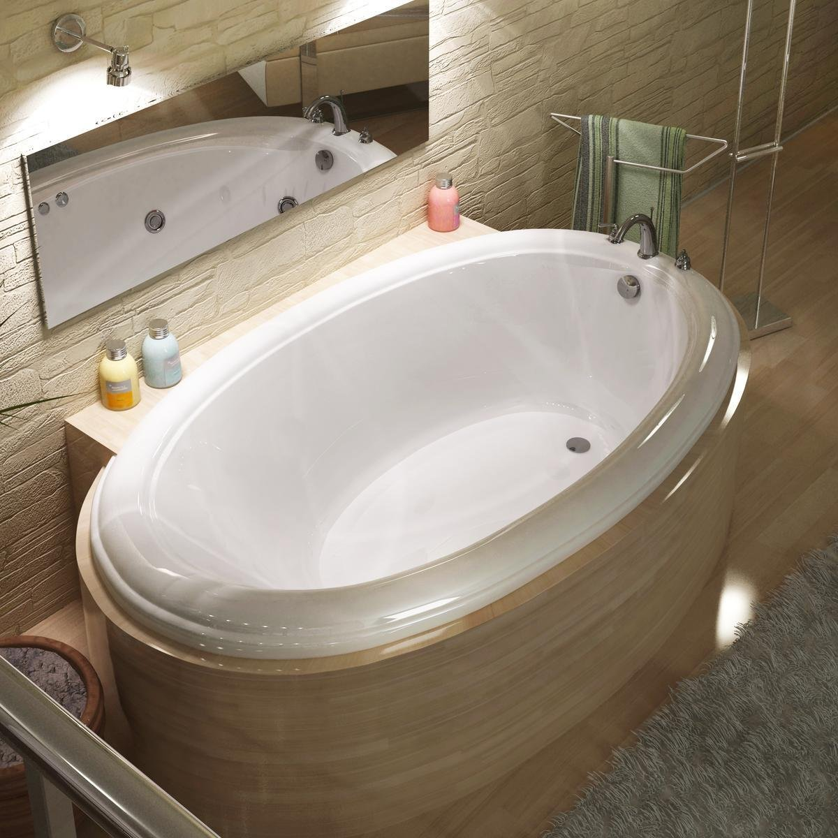 Sea Spa Tubs S3660P Tubs Petite 36 by 60 by 23-Inch Oval Soaking ...