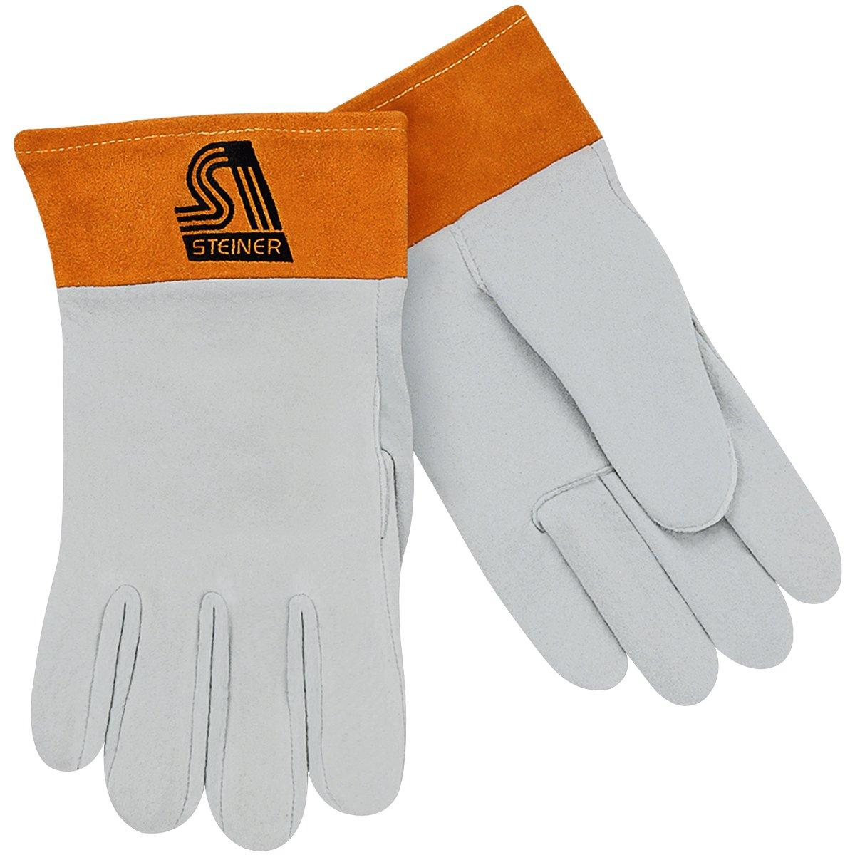 2-Inch Cuff Unlined Large Steiner 0221-L TIG Gloves Split Deerskin