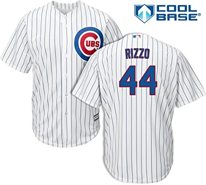 Majestic Anthony Rizzo Chicago Cubs MLB Kids White Home Cool Base Replica  Jersey (Kids 4 c244caf80