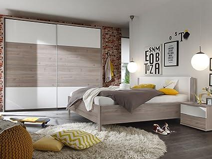 Camera Da Letto Rovere Bianco : Ingo completo della camera da letto argento rovere bianco con