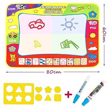 Doodle Magic Tapis De Dessins 80 X 60 Cm Maxi Tapis Arc En Ciel 4 Couleurs Vooa