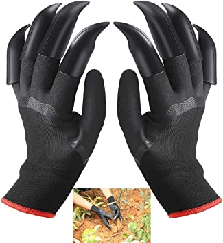 Gardening Gloves for Garden Digging Planting with 8 Claws Protection Gloves A