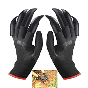 FX Garden Gloves with Claws, Home Gardening Genie Gloves Quick and Easy to Dig and Plant Nursery Plants,Best Gift for Gardener